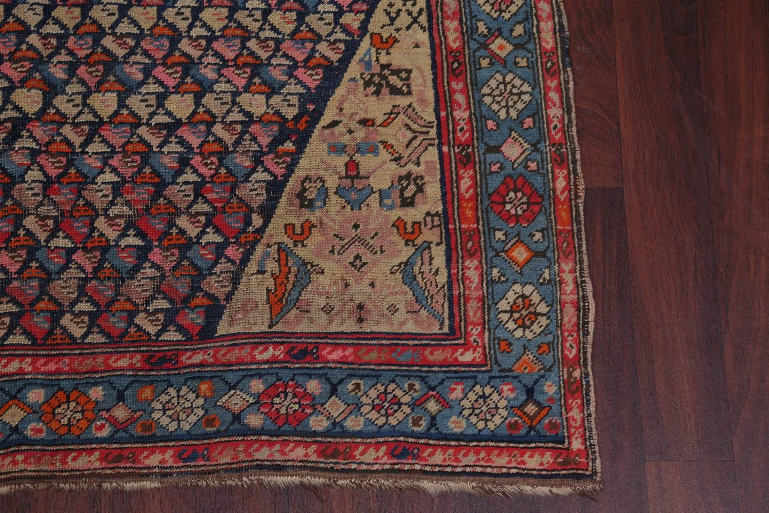 Pre-1900 Karabakh Bote Russian Oriental Hand-Knotted 5x16 Runner Rug image 6