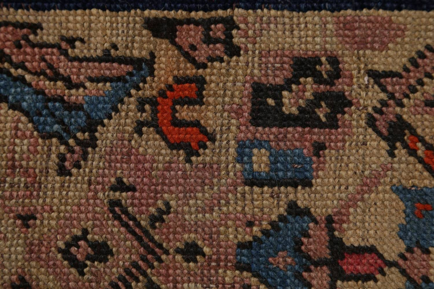 Pre-1900 Karabakh Bote Russian Oriental Hand-Knotted 5x16 Runner Rug image 7