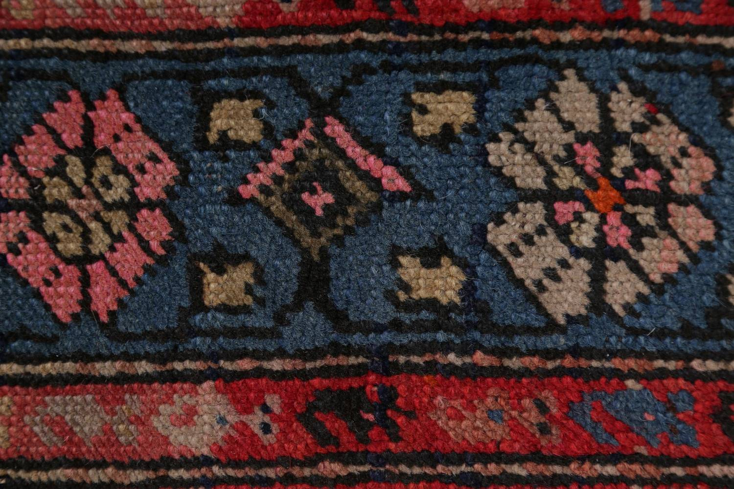 Pre-1900 Karabakh Bote Russian Oriental Hand-Knotted 5x16 Runner Rug image 8