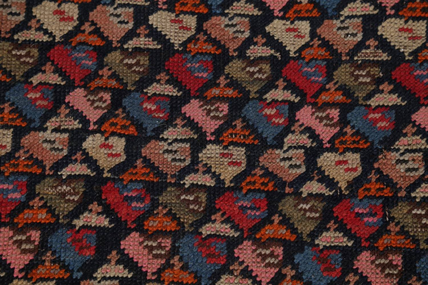 Pre-1900 Karabakh Bote Russian Oriental Hand-Knotted 5x16 Runner Rug image 9