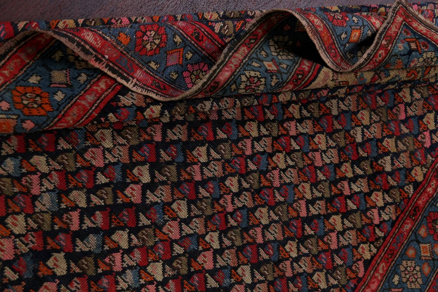 Pre-1900 Karabakh Bote Russian Oriental Hand-Knotted 5x16 Runner Rug image 19