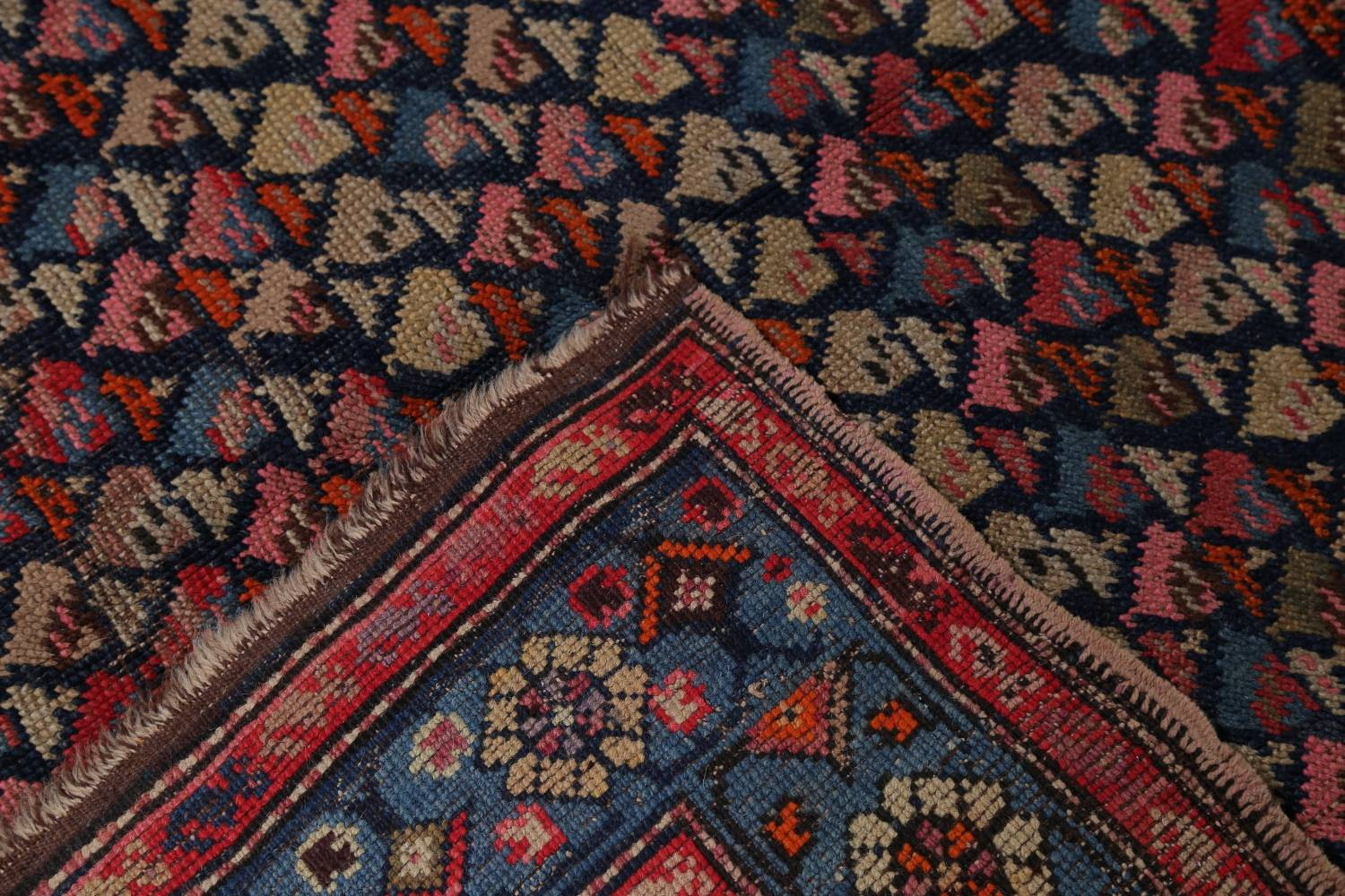 Pre-1900 Karabakh Bote Russian Oriental Hand-Knotted 5x16 Runner Rug image 23
