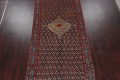 Pre-1900 Karabakh Bote Russian Oriental Hand-Knotted 5x16 Runner Rug image 3