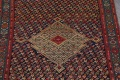 Pre-1900 Karabakh Bote Russian Oriental Hand-Knotted 5x16 Runner Rug image 4