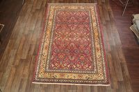 Hunting Design 7x11 Antique Tehran Persian Area Rug
