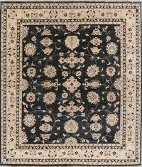 All-Over Oushak Peshawar Oriental Hand-Knotted 8x10 Wool Area Rug