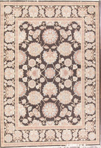 Umber Brown Floral 8x12 Sultanabad Persian Area Rug