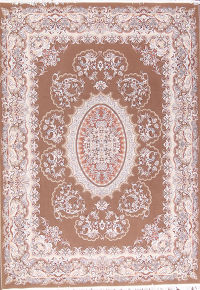 Floral Brown Tabriz Persian Area Rug 8x11