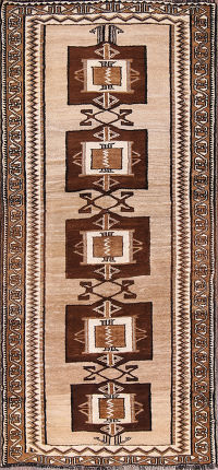 3x7 Gabbeh Shiraz Persian Runner Rug