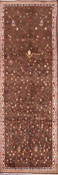 3x10 Abadeh Shiraz Persian Rug Runner
