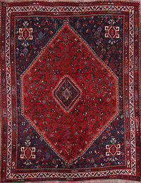 Antique 7x10 Shiraz Persian Area Rug
