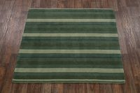Striped Square 6x6 Gabbeh Oriental Area Rug