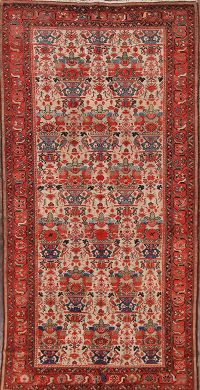Pre-1900 Antique All-Over Malayer Hamadan Persian 5'x10' Wool Rug