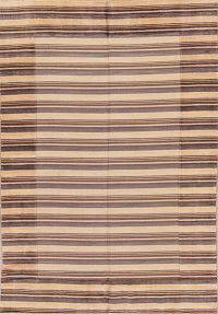 Striped Design 5x8 Nepali Tibet Indian Oriental Area Rug