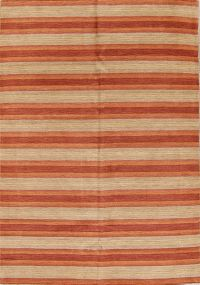 Striped Modern 6x8 Nepal Tibet Indian Oriental Area Rug