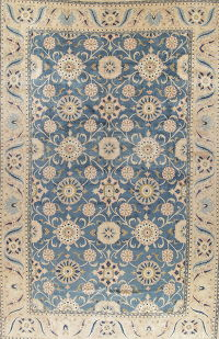 Palace Light Blue Floral Heriz Persian Rug 13x20