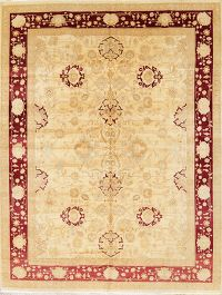 All-Over Floral 9x12 Oushak Peshawar Pakistan Oriental Area Rug