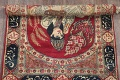 Pre-1900 Antique Minatory Ravar Kerman Persian Rug 2x3 image 11