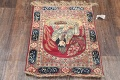 Pre-1900 Antique Minatory Ravar Kerman Persian Rug 2x3 image 14