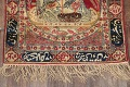 Pre-1900 Antique Minatory Ravar Kerman Persian Rug 2x3 image 15