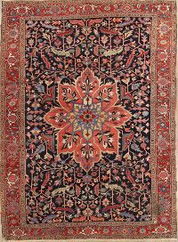 Antique 9x12 Heriz Serapi Persian Area Rug