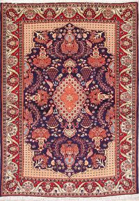 Bird Design! 4x6 Sarouk Persian Area Rug
