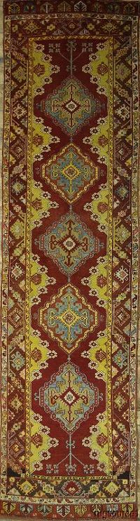 Antique 3x13 Oushak Turkish Oriental Runner Rug