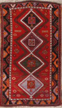 5x8 Shirvan Kazak Russian Area Rug