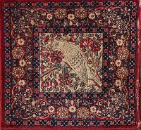 Antique 2x2 Ravar Kerman Persian Square Rug