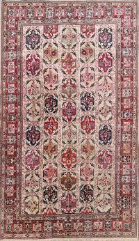 Garden Design Sarouk Persian Hand-Knotted 6x10 Area Rug