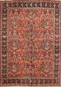 All-Over Floral Sarouk Ziegler Persian Area Rug 7x10