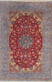 7x10 Signed Isfahan Persian Area Rug