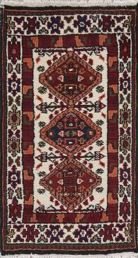 Tribal Gharajeh Indian Oriental Hand-Knotted 2x3 Wool Rug