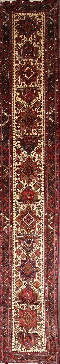 Palace Sized 3x19 Heriz Persian Rug Runner