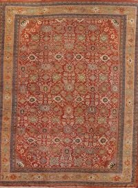 All-Over Floral 17x14 Sultanabad Mahal Ziegler Persian Area Rug