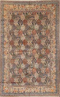 Antique Nain Toodeshk Persian Area Rug 5x9