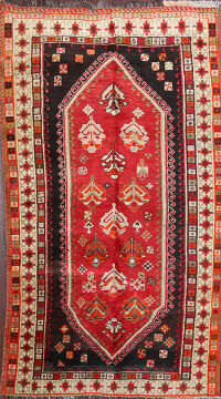 Vintage Tribal Shiraz Persian Area Rug 3x6