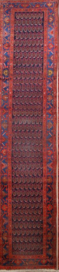 Paisley Antique Runner 3x17 Hamedan Persian Runner Rug