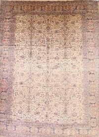 Antique 12x16 Kerman Persian Area Rug