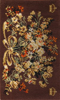 Floral Brown Rya Sweden Oriental Hand-Knotted 3x5 Wool Rug