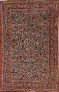 Antique 7x10 Sarouk Persian Area Rug