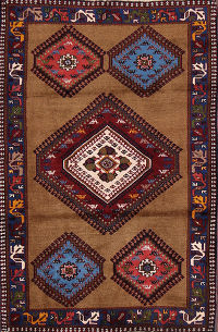 3x4 Yalameh Shiraz Persian Area Rug