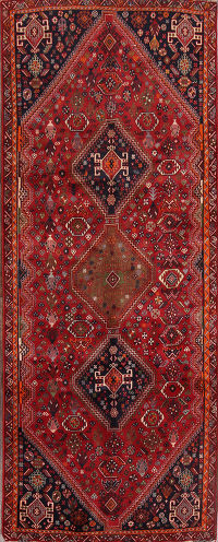 4x9 Abadeh Shiraz Persian Rug Runner
