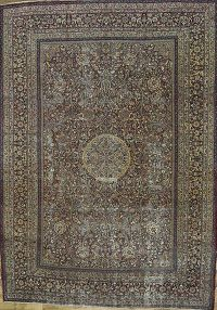 Pre-1900 Antique 9x12 Dorokhsh Persian Area Rug