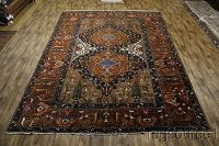 Antique 12x17 Bakhtiari Persian Rug