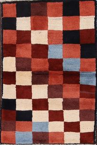 Checked Gabbeh Shiraz Persian Modern Rug 2x3