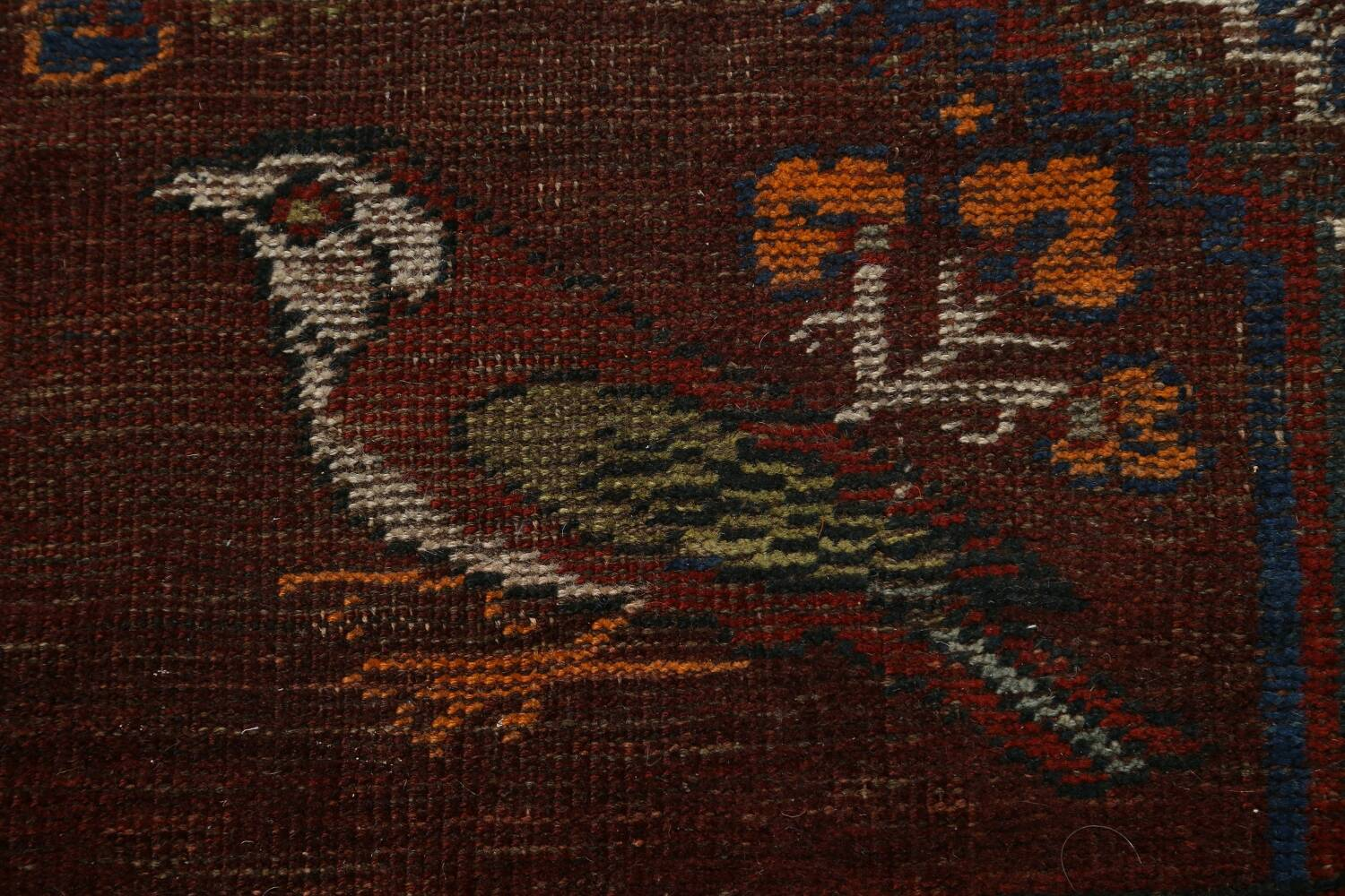 Pre-1900 Antique Ghashghaie Persian Area Rug 5x6 image 9