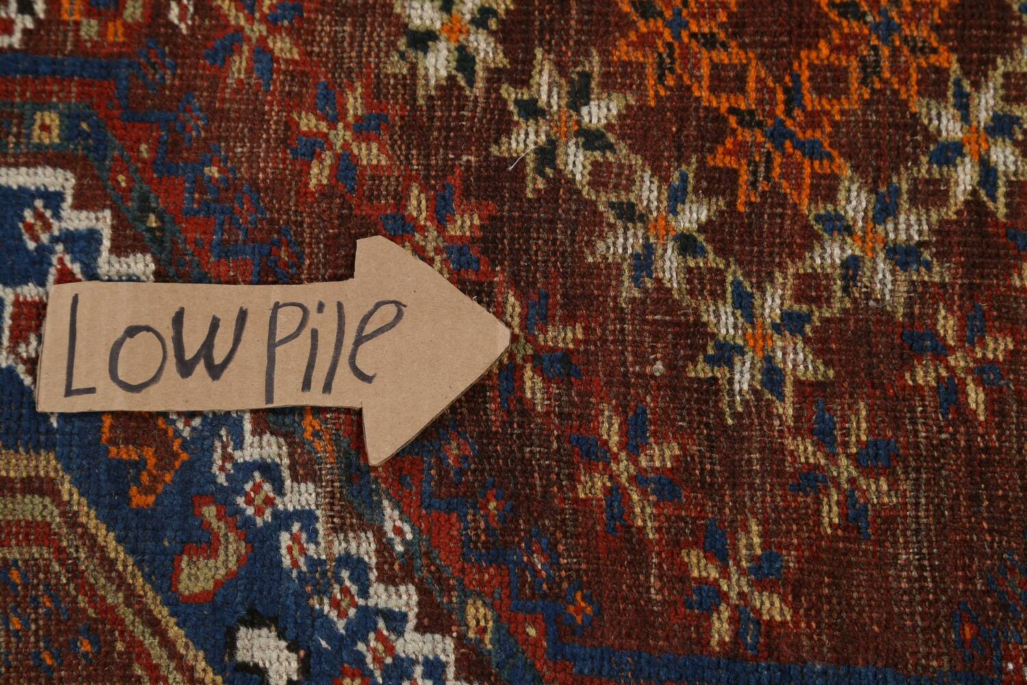 Pre-1900 Antique Ghashghaie Persian Area Rug 5x6 image 13