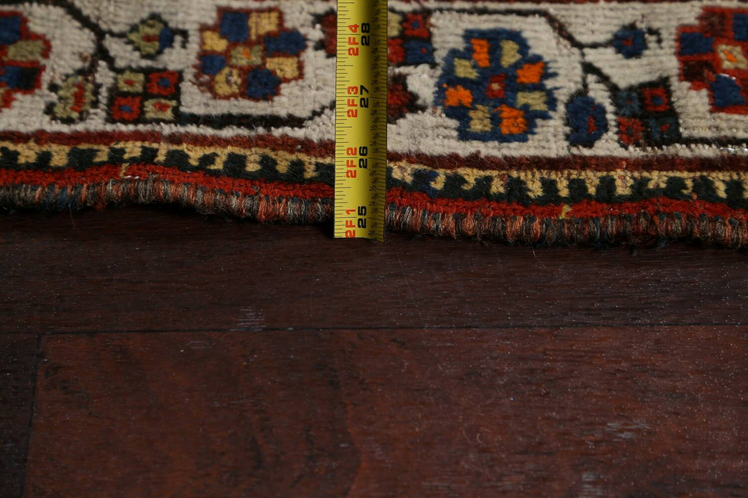 Pre-1900 Antique Ghashghaie Persian Area Rug 5x6 image 21