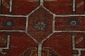 Pre-1900 Antique Ghashghaie Persian Area Rug 5x6 image 10